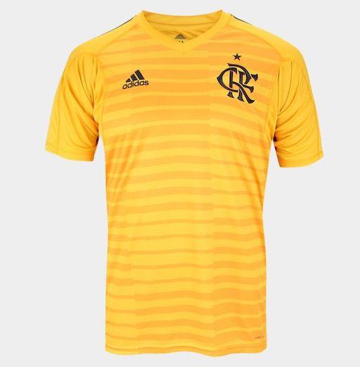 3e23fa9e3a4bb Camisa de Goleiro Flamengo I 2018 s n° Torcedor Adidas Masculina - Dourado