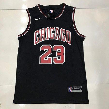 7ee566020 CAMISA NBA CHICAGO BULLS JORDAN 23 BASQUETE - PRETA - Tenis Com ...