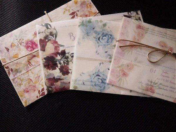 Convite Envelope Papel Vegetal