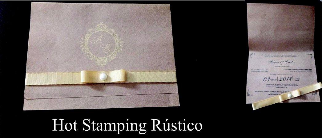 Convite Hot Stamping
