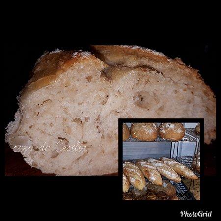 Pão Mini Baguete da casa com fermento natural
