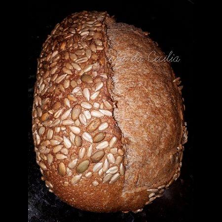 Pão 100% INTEGRAL SEMENTES com Fermento Natural