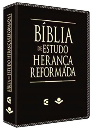Bíblia de Estudo Herança Reformada capa couro sintético - Preta/Marrom (Sob Encomenda)