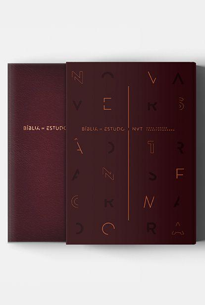 Bíblia De Estudo NVT | Vinho | Mundo Cristão (Sob encomenda)