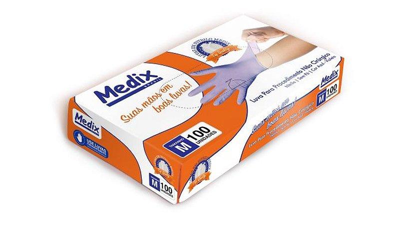 Luva de Procedimento Nitrílica Violeta - MEDIX