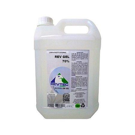Kit Álcool em Gel 70% 5L - 4un