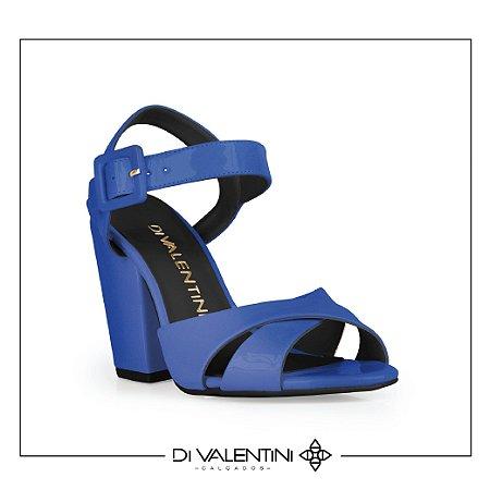 Sandália Peep toe Azul - Di Valentini