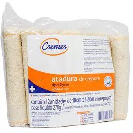 Atadura Crepom 10cmX1,25m - 13 Fios (12un) - Cremer
