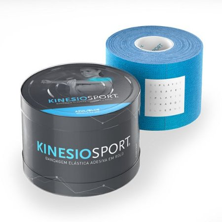 Bandagem Elástica 5cmX5m Cor Azul - KinesioSport