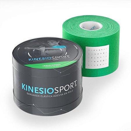Bandagem Elástica 5cmX5m Cor Verde - KinesioSport