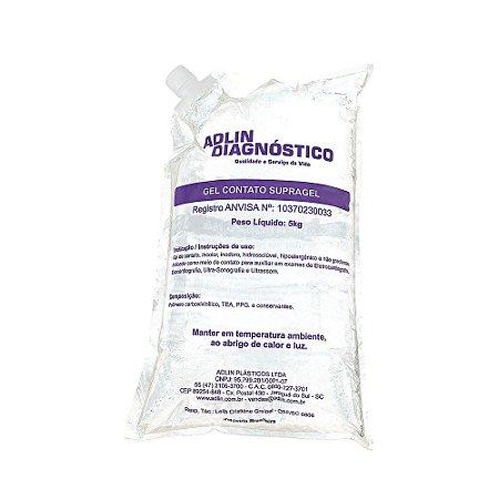 Gel Contato para ECG e USG Supragel (Bag 5Kg) - Adlin