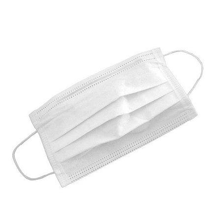 Máscara Descartável Dupla c/ Elástico Branca (100Un) - Anadona