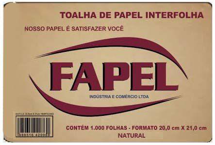 Papel Toalha Natural(1000 Folhas) 20X21 - Fapel