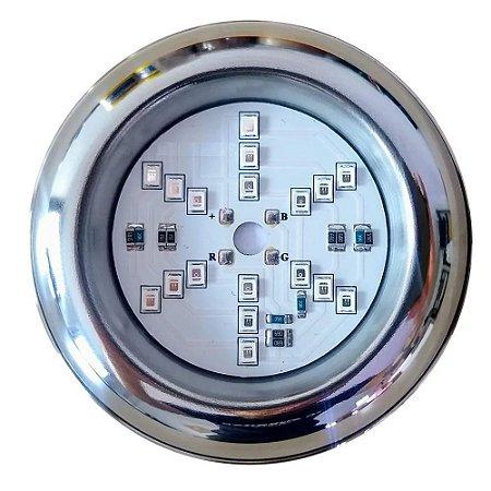 Luminaria Led RGB 6W Para Piscina Inox