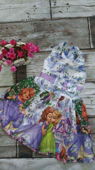 Vestido de Festa Infantil Princesa sofia