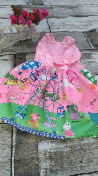 Vestido de Festa Infantil Peppa pig