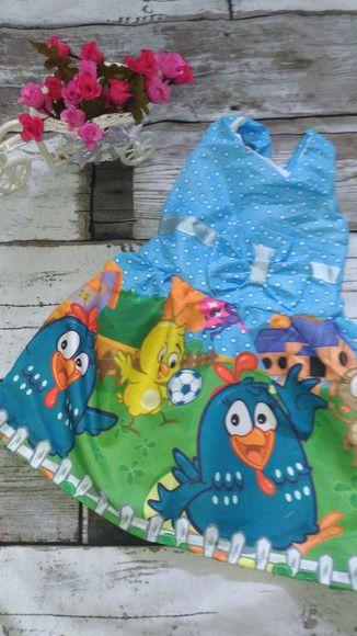 Vestido de festa infantil Galinha Pintadinha