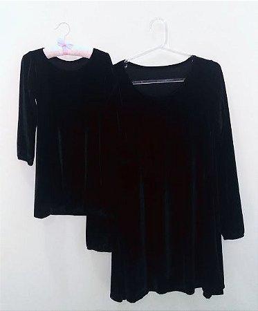 Tal mãe, tal filha vestido preto
