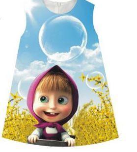 Vestido de Festa Infantil Masha