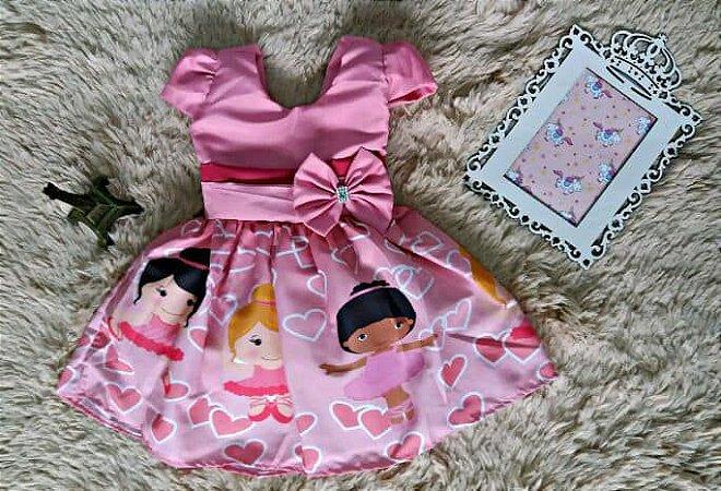 Vestido de Festa Infantil Bailarina