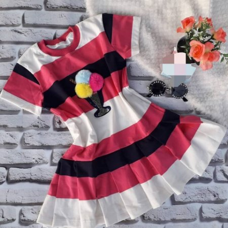 Vestido de Festa Infantil Sorvete