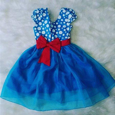 Vestido de Festa Infantil Galinha Pintadinha Poa