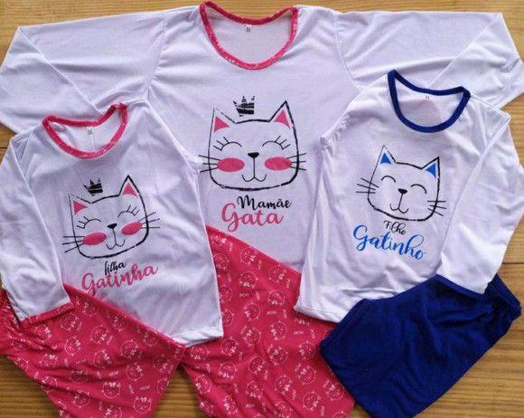 Pijama Tal mãe, tal filhos 3 peças