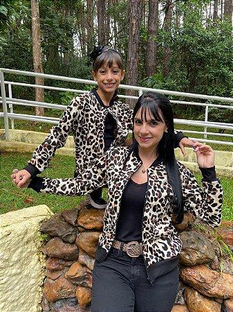 Tal mãe, Tal filha Jaqueta Bomber Animal Print