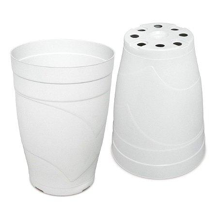 Vaso Plástico 22cm x16,8cm Linha Classic