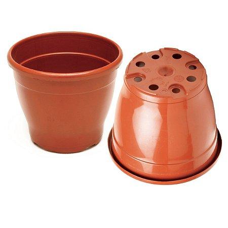 Vaso Plástico 14,5cm x 19cm Linha Classic
