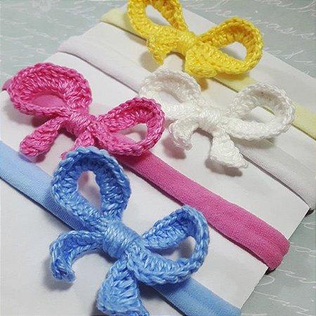 Kit Faixinha Lacinho crochê Luana