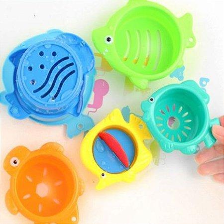 Potinhos para o banho – kit 06 peças