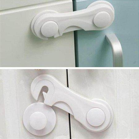 Trava de segurança  para porta armário e gavetas