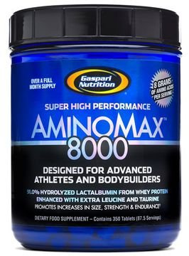 Aminomax 8000 (350 tabletes) - Gaspari Nutrition