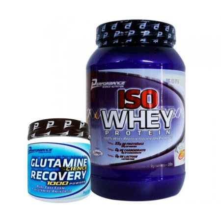 Iso Whey 2lb (909g) - Performance Nutrition + Glutamine Recovery 1000 Powder (300g) - Performance Nutrition