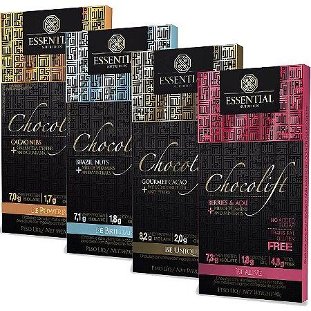 Chocolift Caixa com 12 barras de 40g - Essential Nutrition