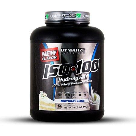Iso100 100% Hydrolized 5lb (2,270kg) - Bolo de Aniversário - Dymatize