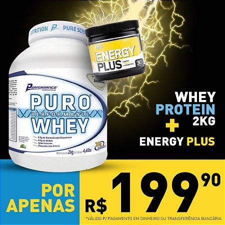 COMBO Puro Whey 2kg - Performance + Energy Plus 150g - Optimum Nutrition