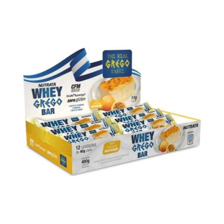 Caixa Whey Grego Bar 12unidades - Nutrata