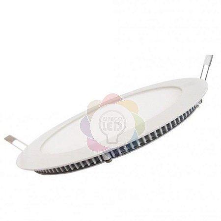 Plafon LED 25w Embutir Redondo Branco Frio