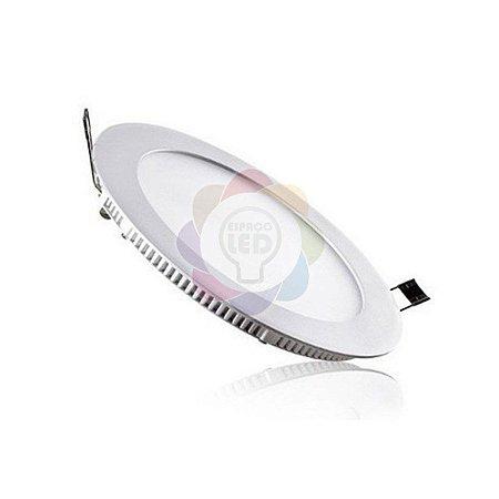 Plafon LED 18w Embutir Redondo Branco Quente