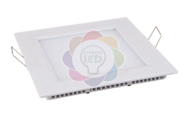 Plafon LED 12w Embutir Quadrado Branco Frio