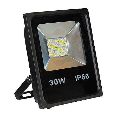 Refletor LED 30w SMD Branco Quente