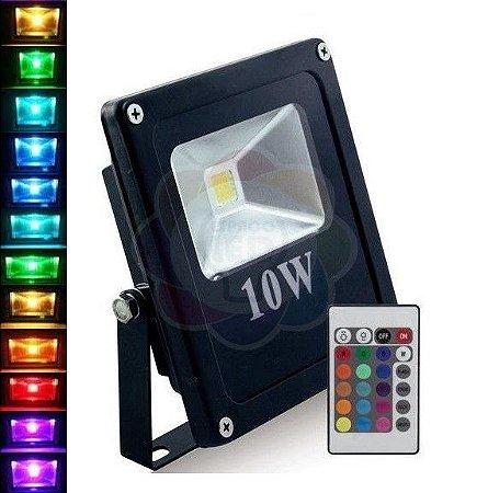 Refletor LED 10w Colorido RGB