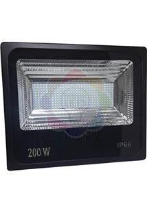 Refletor LED 200w SMD Branco Frio