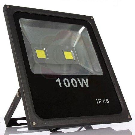 Refletor LED 100w COB Branco Frio