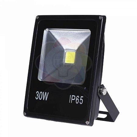Refletor LED 30w COB Branco Frio