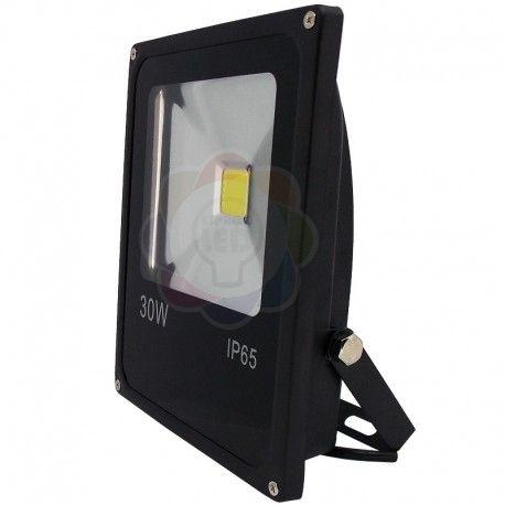 Refletor LED 30w COB Branco Quente