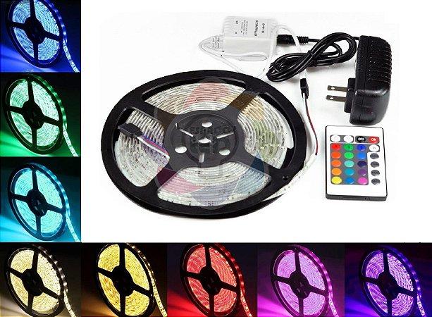 Fita de LED 5050 com 5 Metros RGB Colorida