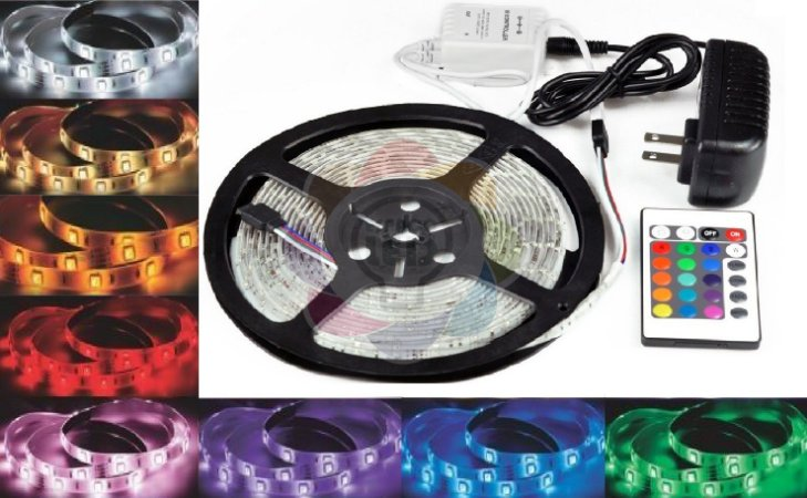 Fita de LED 3528 com 5 Metros RGB Colorida